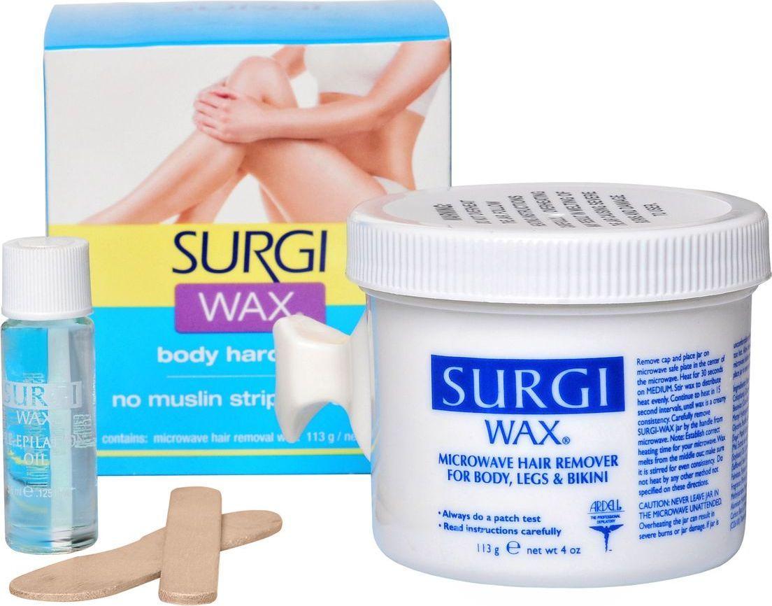 Surgi Wax Body & Leg Воск для удаления волос на теле и ногах82503Гладкая кожа ног и тела без долгих и неприятных манипуляций бритвенным станком возможны, только благодаря современному мягкому подходу Surgi-Wax Body & Leg, который комфортно, быстро и надежно произведет депиляцию и придаст вам шикарный вид. Если раньше удаление волос в домашних условиях у вас ассоциировалось только с яркостью болезненных ощущений, то с воском Surgi-Wax Body & Leg вы испытаете чувства гармонии, красоты и собственного совершенства.ДЕЙСТВИЕ:- он деликатно устраняет волоски любой длины, не причиняя болезненных ощущений; - надолго избавляет от появления волосков в зоне депиляции; - обладает широким спектром действия, удаляя в равной степени хорошо волосы на теле, ногах и зоне бикини; - предотвращает возможность образования так называемых вросших волосков; - не вызывает покраснения кожи, которое часто появляется после окончания процедуры, особенно в домашних условиях; - удобен и прост в обращении, вызывает приятные тактильные ощущения; - позволяет удалить волосы без бритья, что защищает кожу от повреждений и лишних стрессов; - является натуральным продуктом, не использующим искусственные компоненты и примеси. Гладкая кожа ног и тела без долгих и неприятных манипуляций бритвенным станком возможны, только благодаря современному мягкому подходу Surgi-Wax Body & Leg, который комфортно, быстро и надежно произведет депиляцию и придаст вам шикарный вид. Если раньше удаление волос в домашних условиях у вас ассоциировалось только с яркостью болезненных ощущений, то с воском Surgi-Wax Body & Leg вы испытаете чувства гармонии, красоты и собственного совершенства. ДЕЙСТВИЕ: - он деликатно устраняет волоски любой длины, не причиняя болезненных ощущений; - надолго избавляет от появления волосков в зоне депиляции; - обладает широким спектром действия, удаляя в равной степени хорошо волосы на теле, ногах и зоне бикини; - предотвращает возможность образования так называемых вросших волосков; - не вызывает п