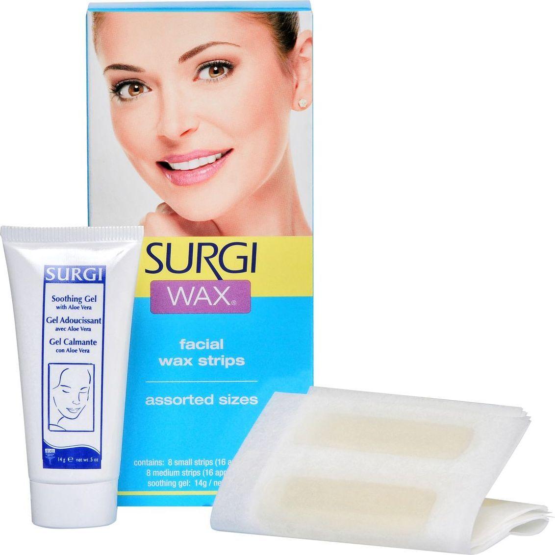 Surgi Набор Assorted Honey Facical Wax Strips: полоски с воском для удаления волос на лице, крем
