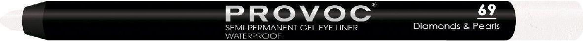 Provoc Gel Eye Liner Гелевая подводка в карандаше для глаз, цвет: тон 69 Diamonds & Pearls, шиммер, перламутровыйPV0069Гелевый карандаш для глаз Provoc позволяет легко подвести яркие, насыщенные, глубокие стрелки. Благодаря высокой пигментации цвета, стрелки создают эффект жидкой подводки. Водоустойчивая формула с микрокристаллическим воском гарантирует ультра стойкость до 24 часов. Цвет: шиммер, перламутровый