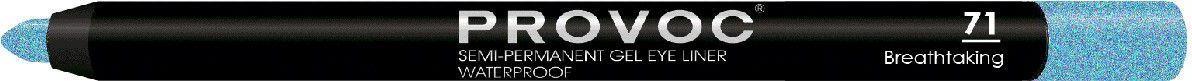 Provoc Gel Eye Liner Гелевая подводка в карандаше для глаз, цвет: тон 71 Breathtaking, бирюзовыйPV0071Гелевый карандаш для глаз Provoc позволяет легко подвести яркие, насыщенные, глубокие стрелки. Благодаря высокой пигментации цвета, стрелки создают эффект жидкой подводки. Водоустойчивая формула с микрокристаллическим воском гарантирует ультра стойкость до 24 часов. Цвет: бирюзовый