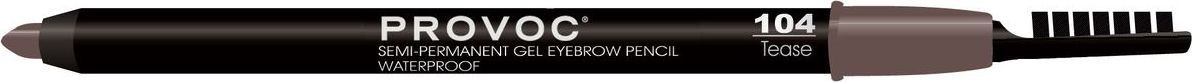 Provoc Eye Brow Liner Гелевая подводка в карандаше для бровей, цвет: тон 104 Tease, светло-коричневый карандаш для бровей mac cosmetics veluxe brow liner taupe цвет taupe variant hex name 524135