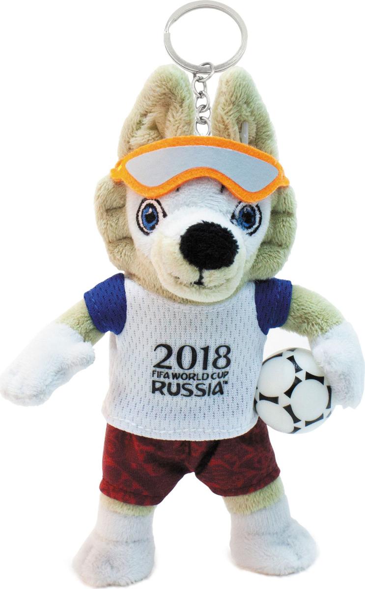 Брелок в виде плюшевой игрушки, которую можно прикрепить на ключи или рюкзак. Волк Забивака, обаятельный и улыбчивый символ Чемпионата мира по футболу 2018 FIFA World Cup Russia, станет отличным сувениром на память о событии мирового масштаба! Брелок придется по душе не только детям, но и всем поклонникам футбола.