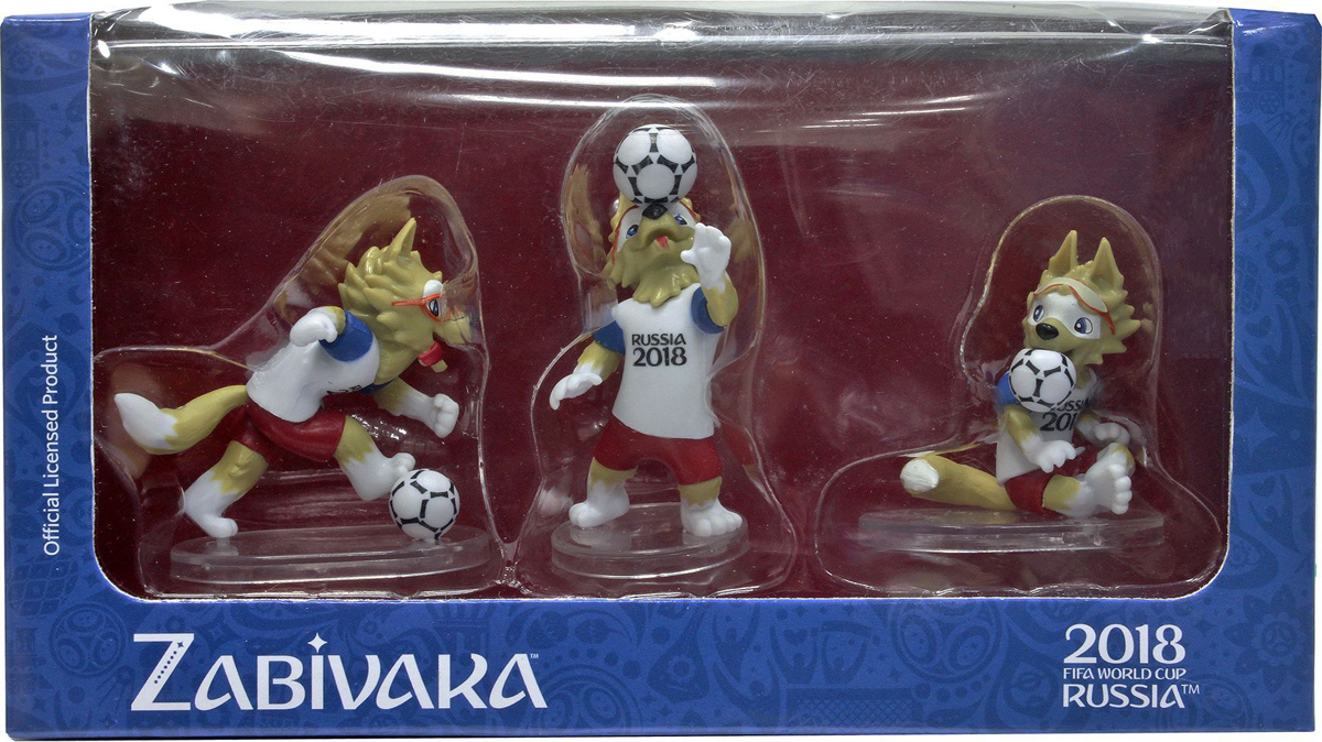 FIFA-2018 Набор фигурок Волк Забивака № 3 Header 3 шт сувенир волк