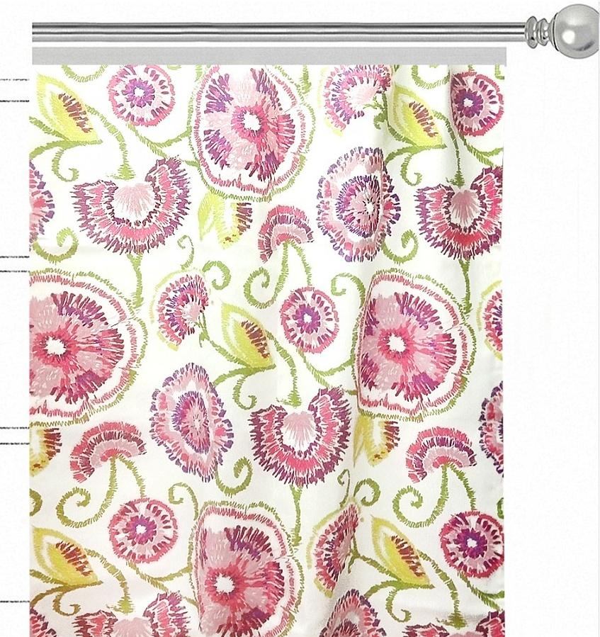 Штора Altali Sabrina Lila, на ленте, цвет: розовый, высота 270 см. P708-1825/1 штора altali фукси на ленте цвет фуксия высота 270 см p708 z115 1