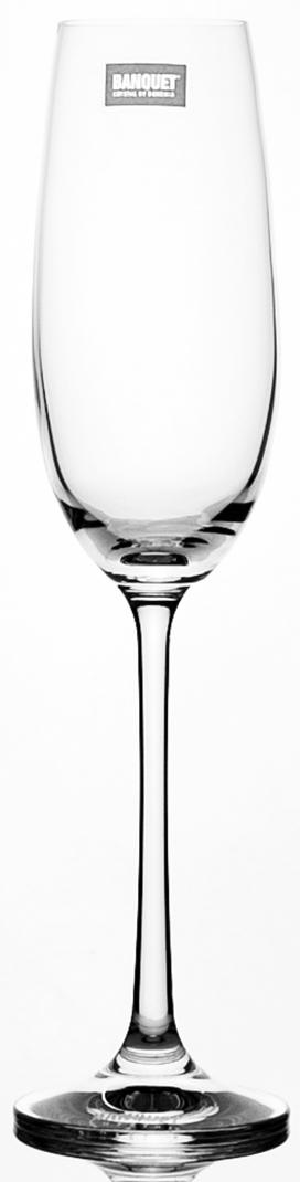 Набор бокалов для шампанского Banquet Crystal Twiggy, 180 мл, 6 шт02B4G004180Набор бокалов для шампанского Banquet CrystalL серии Twiggy порадуют не только вас, но и ваших гостей. Они обладают привлекательным внешним видом, а материалом их изготовления является высококачественное хрустальное стекло. Они идеально подойдут для сервировки праздничного стола. Кроме того, красоту бокалов подчеркивают элегантные изгибы. Объем одного бокала составляет 180 мл. Количество в упаковке 6 шт.