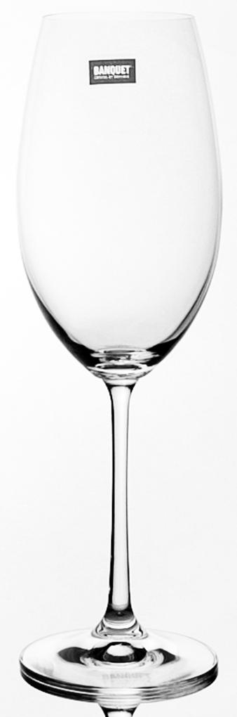Набор бокалов для вина Banquet Crystal Twiggy, 460 мл, 6 шт