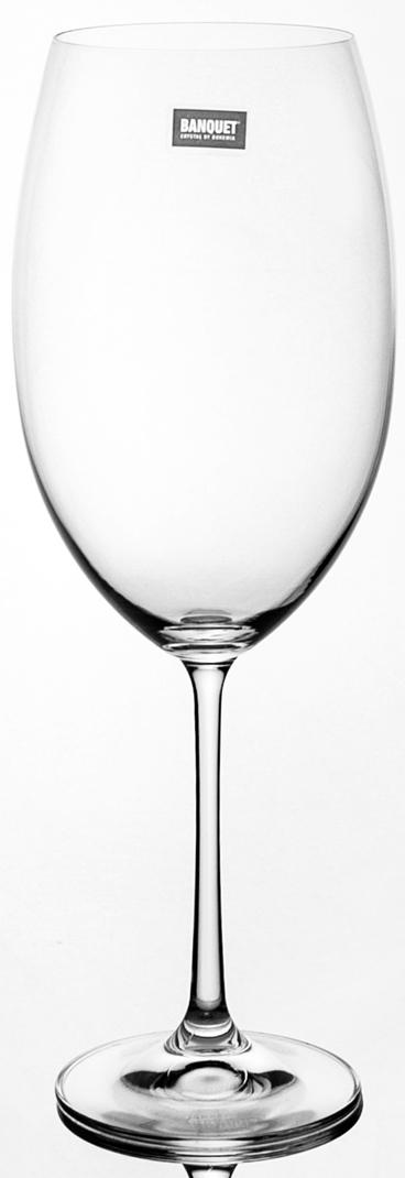 Набор бокалов для вина Banquet Crystal порадуют не только вас, но и ваших гостей.  Они обладают привлекательным внешним видом, а материалом их изготовления является высококачественное хрустальное стекло.  Они идеально подойдут для сервировки праздничного стола.  Кроме того, красоту бокалов подчеркивают элегантные изгибы и оригинальный узор.  Объем одного бокала составляет 800 мл.  Количество в упаковке 6 шт.