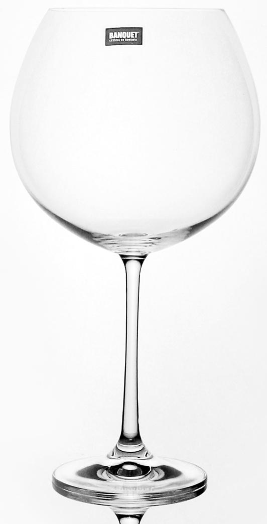 Набор бокалов для вина Banquet Crystal Twiggy, 960 мл, 6 шт
