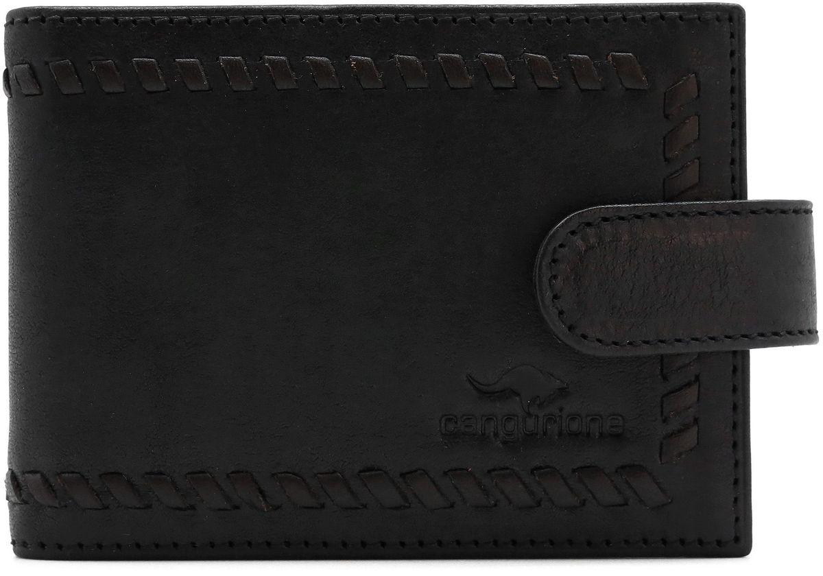 Визитница мужская Cangurione, цвет: черный. 3312-001 портмоне мужское cangurione цвет черный 1214 001 v black