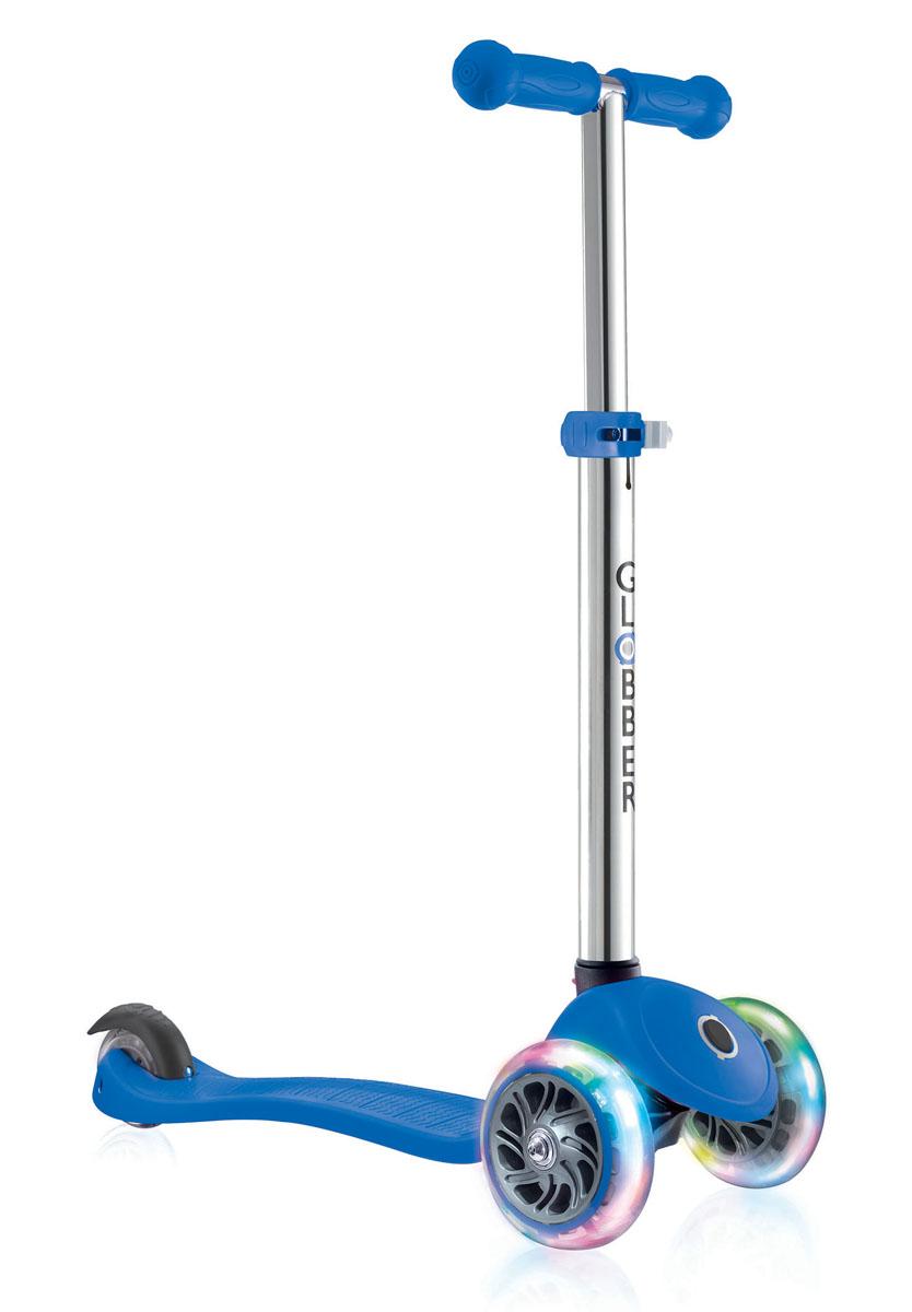 """Самокат Globber """"Primo Lights"""", со светящимися передними колесами, цвет: синий"""