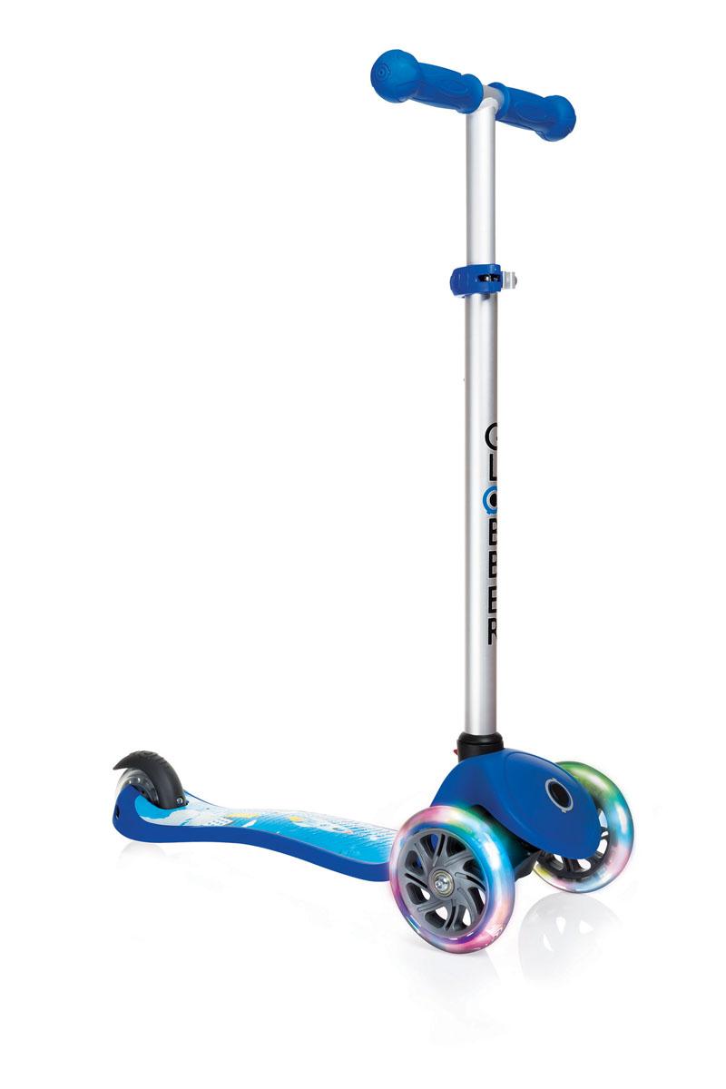 """Самокат Globber """"Primo Fantasy Lights"""", со светящимися передними колесами, цвет: синий. 424-002"""