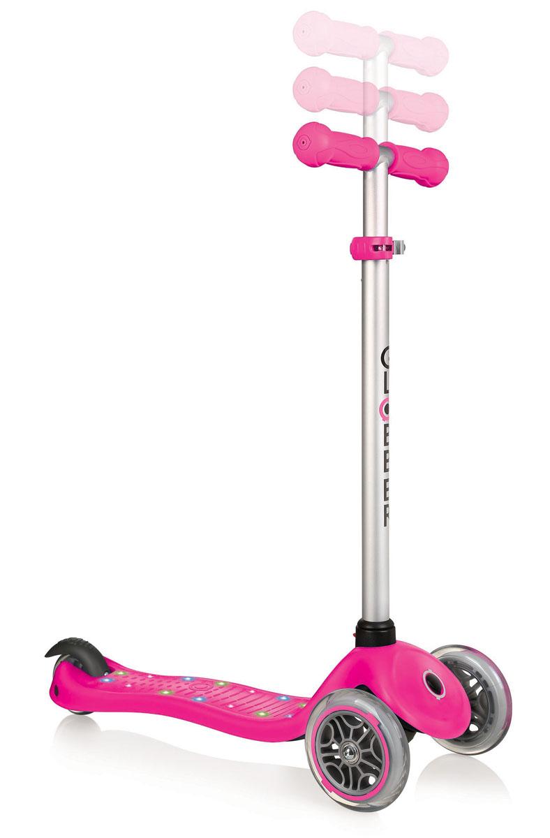 """Самокат Globber """"Primo Starlight"""", со светящейся платформой, цвет: розовый"""