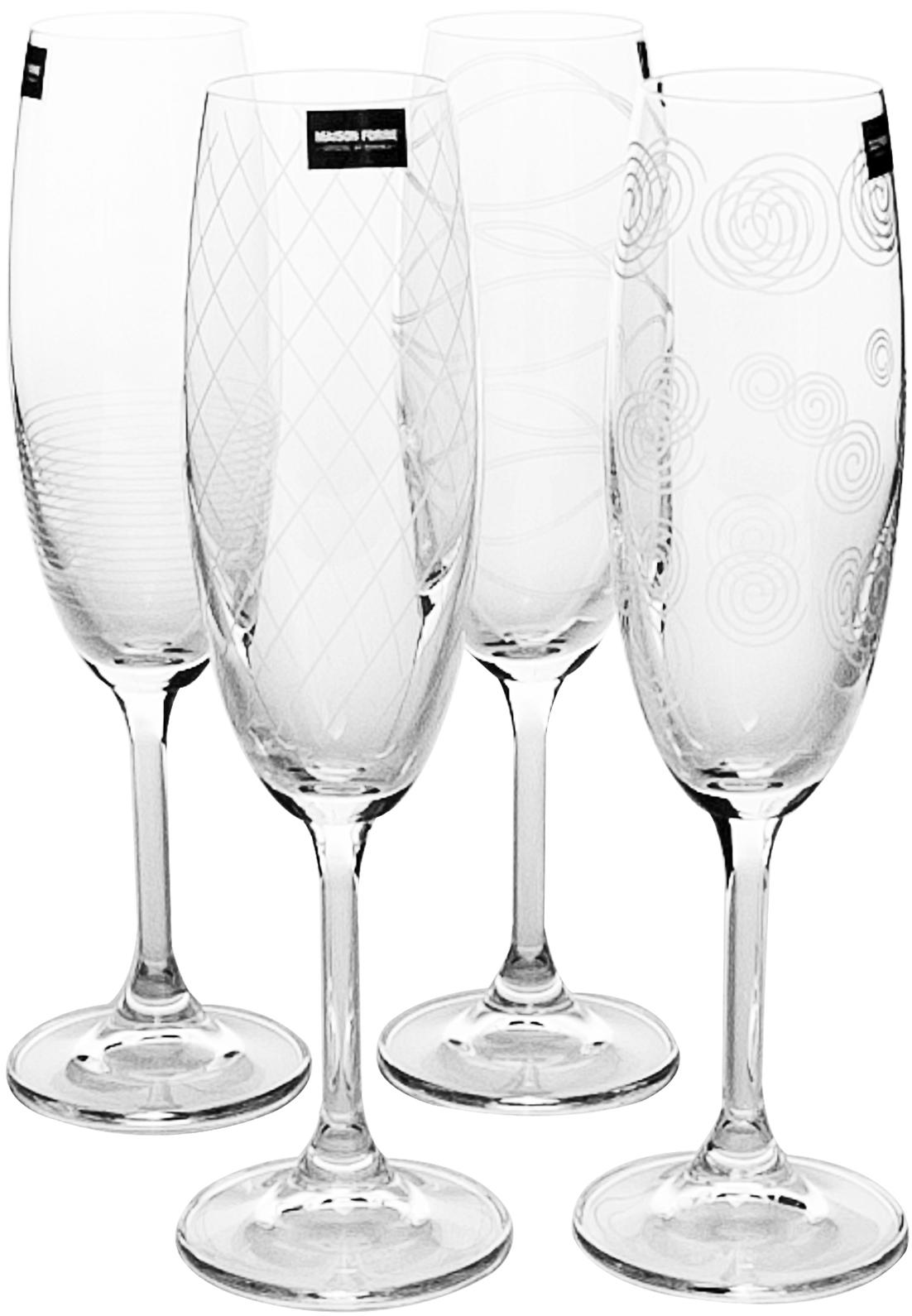 Набор бокалов для шампанского Banquet Crystal Leona Decor, 210 мл, 4 штKE02B4G006210D-4GBНабор бокалов для шампанского Banquet Crystal Leona Decor порадуют не только вас, но и ваших гостей.Они обладают привлекательным внешним видом, а материалом их изготовления является высококачественное хрустальное стекло.Они идеально подойдут для сервировки праздничного стола.Кроме того, красоту бокалов подчеркивают элегантные изгибы и оригинальный узор.Объем одного бокала составляет 210 мл.Количество в упаковке 4 шт.