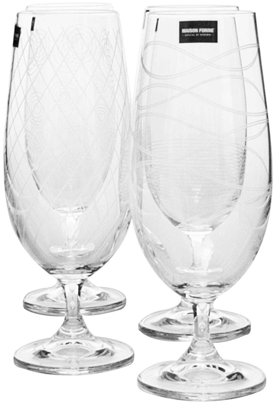 Набор бокалов для пива Banquet Crystal Leona Decor, 370 мл, 4 шт набор бокалов для бренди коралл 40600 q8105 400 анжела