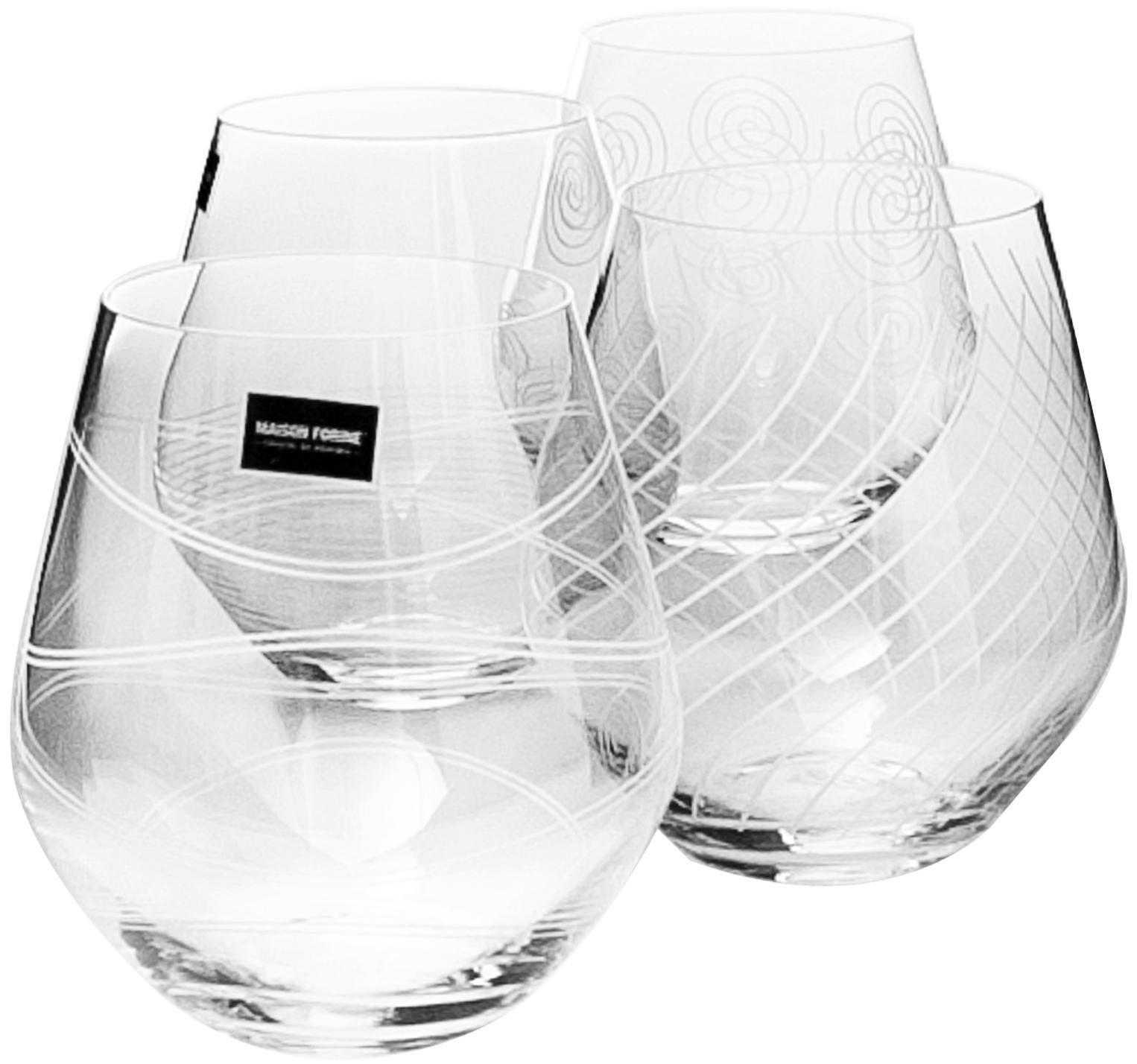 Набор стаканов Banquet Crystal порадуют не только вас, но и ваших гостей. Они обладают привлекательным внешним видом, а материалом их изготовления является высококачественное хрустальное стекло. Они идеально подойдут для сервировки праздничного стола. Кроме того, красоту бокалов подчеркивают элегантные изгибы и оригинальный узор. Объем одного бокала составляет 500 мл. Количество в упаковке 4 шт.