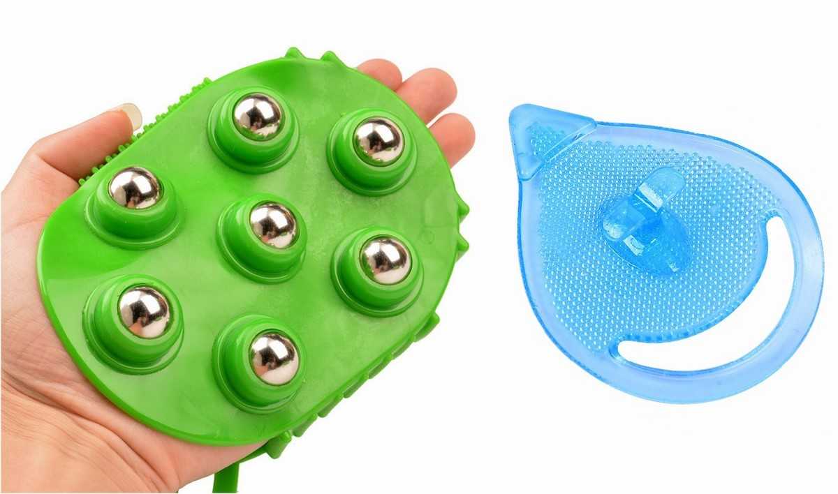 Ruges Набор массажных щеток для тела и лица Хоумспа цвет зеленый