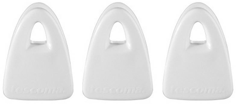 """Набор магнитных клипс Tescoma """"Presto"""" отлично подходит для закрывания пакетов и для крепления заметок, записок и рецептов к двери холодильника и другим магнитным поверхностям на кухне. Изготовлено из прочной пластмассы, с сильным магнитом. В наборе 3 клипсы."""
