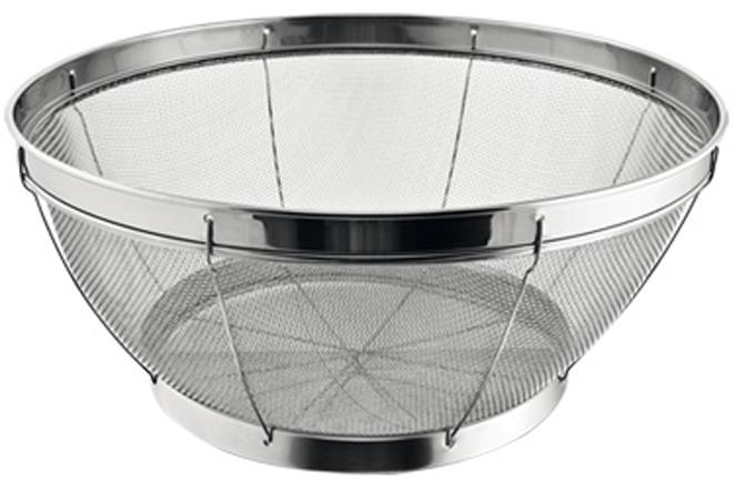 Корзинка для процеживания Tescoma GrandCHEF, цвет: серебристый, диаметр 24 cм428534Корзинка для процеживания Tescoma GrandCHEF отлично подходит для процеживания, ополаскивания и слива макаронных изделий, овощей, фруктов и так далее.Подходит как пароварка в кастрюлю или как сервировочная корзинка. Изготовлена из высококачественной нержавеющей стали.Корзинку можно мыть в посудомоечной машине.
