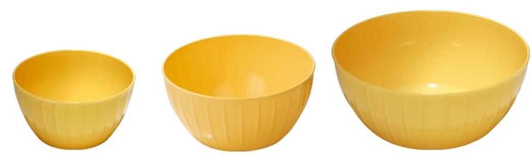 Набор мисок Tescoma Delicia, цвет: желтый, 3 шт набор сундучков roura decoracion 3 шт 34783