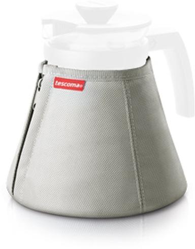 """Термочехол Tescoma сохраняет температуру напитков в стеклянном чайнике """"Teo"""" намного дольше.  Предназначен для заварного чайника """"Teo"""" и """"Teo Tone""""  рассчитанных на объем 1,25 л, с двумя молниями для легкого надевания чехла."""