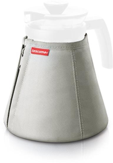 """Термочехол Tescoma сохраняет температуру напитков в стеклянном чайнике """"Teo"""" намного дольше.  Предназначен для заварного чайника """"Teo"""" и """"Teo Tone""""  рассчитанных на объем 1,7 л, с двумя молниями для легкого надевания чехла."""
