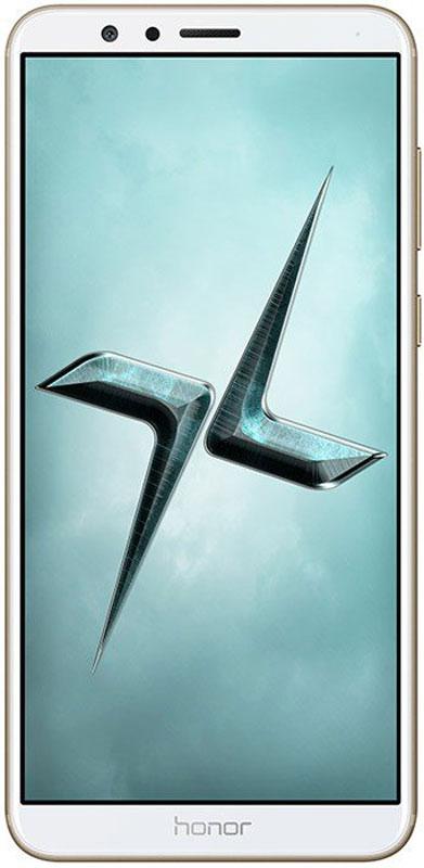 Huawei Honor 7X, Gold51091YUAВ плане общего дизайна Huawei Honor 7X успешно сохранил облик предшественника. Вытянутый прямоугольный корпус из металла дополняется элегантным 2,5D-стеклом с фронтальной стороны.Безрамочный экран Honor 7X с разрешением 2160 x 1080 Full HD+ обеспечивает высочайшее качество изображений и удивительные визуальные эффекты.Тонкий и компактный корпус Honor 7X оснащен экраном 5,93. Скругленные края корпуса и эргономичная форма смартфона обеспечивают удобство его использования.Игры на смартфоне никогда не были столь увлекательными! Соотношение сторон экрана Honor 7X - 18:9. Это дает множество преимуществ любителям игр, привыкших к стандартному соотношению 16:9.Теперь вы можете одновременно смотреть фильм и общаться с друзьями. Включите режим нескольких окон и общайтесь с друзьями в WhatsApp, не прекращая просматривать новости в интернете.Двойная основная камера 16 Мпикс + 2 Мпикс позволяет запечатлеть все важные моменты вашей жизни в великолепном качестве и почувствовать себя настоящим фотографом. Режим портретной съемки Honor 7X позволяет делать удивительные портретные снимки, а технология фазовой фокусировки PDAF и новый алгоритм обработки фото обеспечивают ультра быструю скорость фокусировки камеры.Фронтальная 8 Мпикс камера поддерживает широкий набор визуальных эффектов, позволяющих делать прекрасные селфи. Ваши друзья обязательно обратят на них внимание в социальных сетях! Функция управления жестами открывает новые возможности фронтальной камеры: помашите рукой, чтобы запустить обратный отсчет и сделать селфи.Высочайшая производительность смартфона обеспечивается 8-ядерный процессором Kirin 659 2,36 ГГц, 4 ГБ RAM и интерфейсом EMUI 5.1. Одновременная работа большого количества приложений не снижает производительность Honor 7Х. Умная оптимизация работы и удобное управление файлами предлагают пользователям новый стандарт производительности для смартфонов с ОС Android.Мощная батарея 3340 мАч и технология энергосбережения, поддерживаемая процес