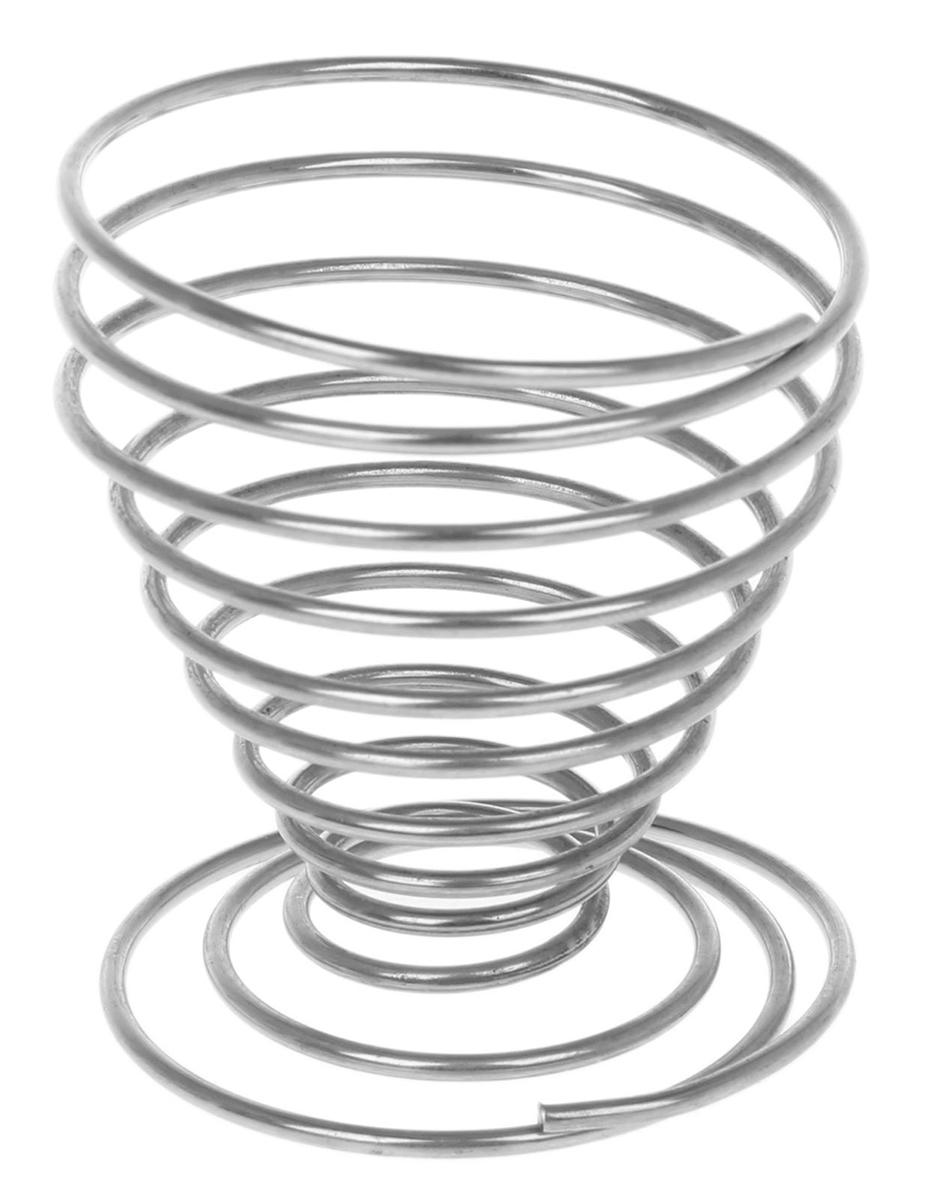 Подставка для яйца Доляна Пружинка, цвет: серый металлик, 4,5 х 5 см. 12106351210635От качества посуды зависит не только вкус еды, но и здоровье человека. Подставка для яиц Пружинка — товар, соответствующий российским стандартам качества. Любой хозяйке будет приятно держать его в руках. С данной посудой и кухонной утварью приготовление еды и сервировка стола превратятся в настоящий праздник.