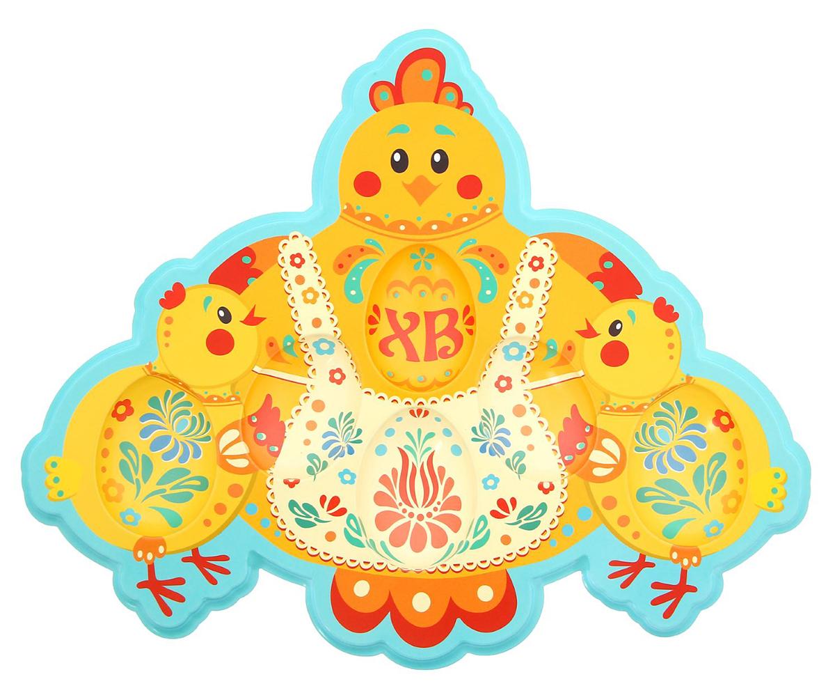 """Пасхальная подставка под 6 яиц """"Sima-land"""" изготовлена из пластика и имеет полноцветное яркое изображение. Аксессуар станет достойным украшением праздничного стола, создаст радостное настроение и наполнит пространство дома благостной энергией на год вперёд. Изделие также будет хорошим подарком друзьям и коллегам."""