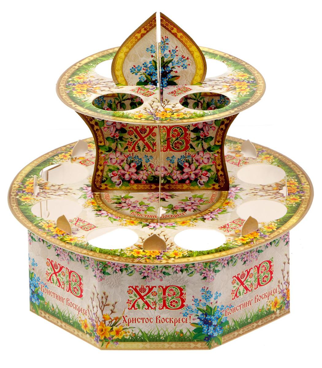 """Подставка для яйца """"Цветочная"""", на 12 яиц, 20 х 20 см. 1675778"""