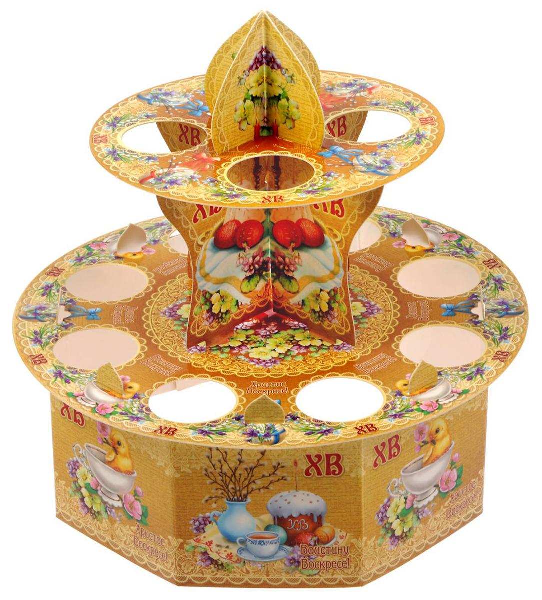 Подставка для яйца Пасхальная композиция, на 12 яиц, 20 х 20 см. 16757791675779От качества посуды зависит не только вкус еды, но и здоровье человека. Подставка пасхальная на 12 яиц Пасхальная композиция — товар, соответствующий российским стандартам качества. Любой хозяйке будет приятно держать его в руках. С данной посудой и кухонной утварью приготовление еды и сервировка стола превратятся в настоящий праздник.