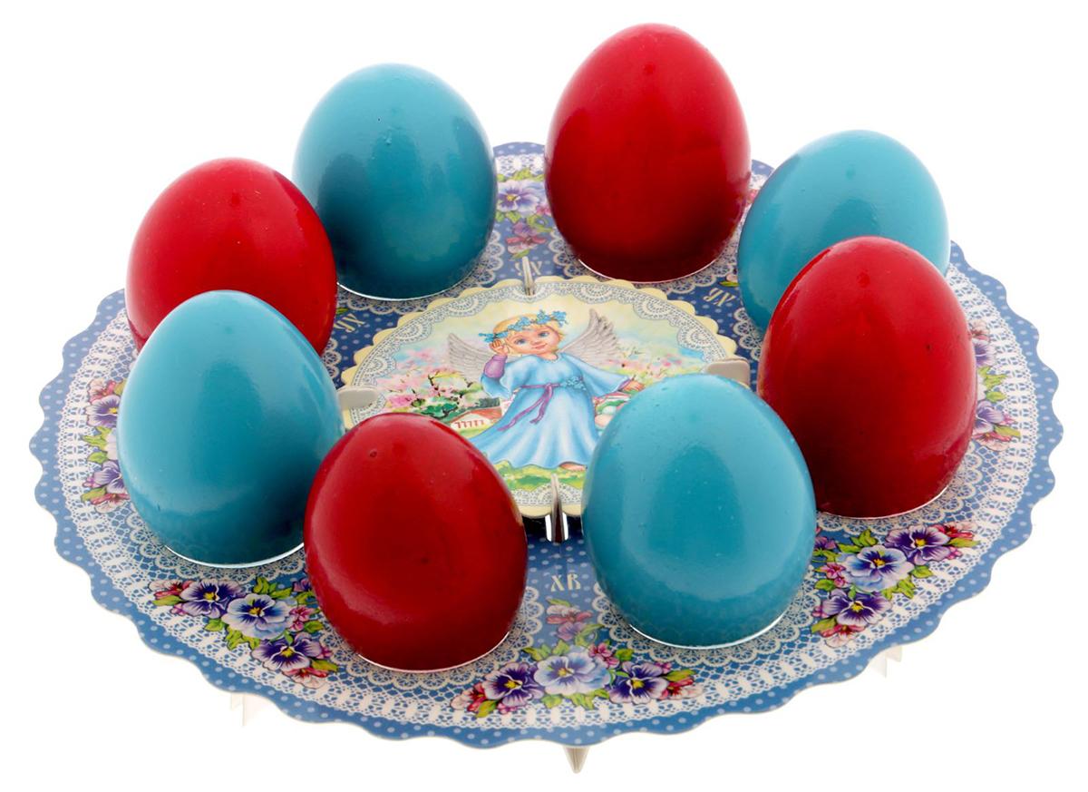 """Подставка для яйца """"Ангелы"""", на 8 яиц, 21 х 21 см. 1695096"""