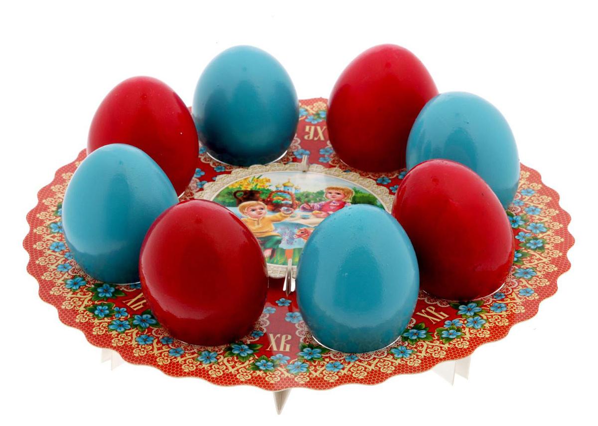 "Подставка для яйца ""Семья"", на 8 яиц, 21 х 21 см. 1695098"