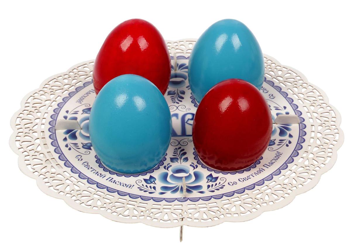 """От качества посуды зависит не только вкус еды, но и здоровье человека. Подставка пасхальная на 4 яйца """"Гжель"""" — товар, соответствующий российским стандартам качества. Любой хозяйке будет приятно держать его в руках. С данной посудой и кухонной утварью приготовление еды и сервировка стола превратятся в настоящий праздник."""
