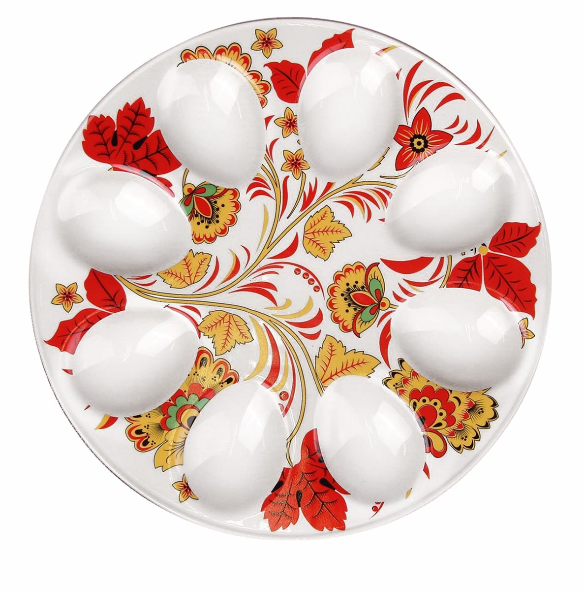 Подставка для яйца Доляна Жар птица, 20 х 2 см. 25322112532211От качества посуды зависит не только вкус еды, но и здоровье человека. Подставка для яиц Жар птица — товар, соответствующий российским стандартам качества. Любой хозяйке будет приятно держать его в руках. С данной посудой и кухонной утварью приготовление еды и сервировка стола превратятся в настоящий праздник.