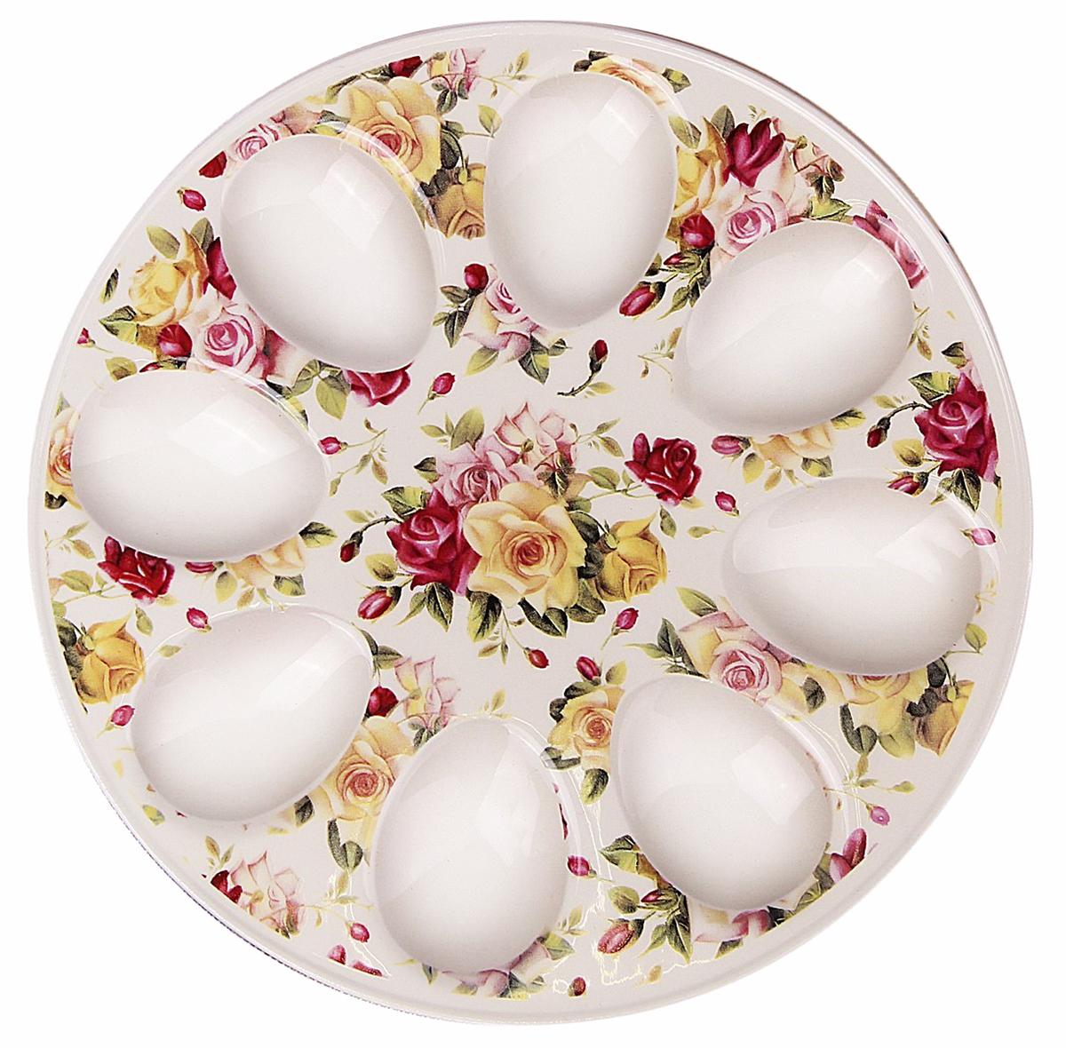 Подставка для яйца Доляна Сад роз, 20 х 2 см. 25322132532213От качества посуды зависит не только вкус еды, но и здоровье человека. Подставка для яиц Сад роз 20х2 см — товар, соответствующий российским стандартам качества. Любой хозяйке будет приятно держать его в руках. С данной посудой и кухонной утварью приготовление еды и сервировка стола превратятся в настоящий праздник.