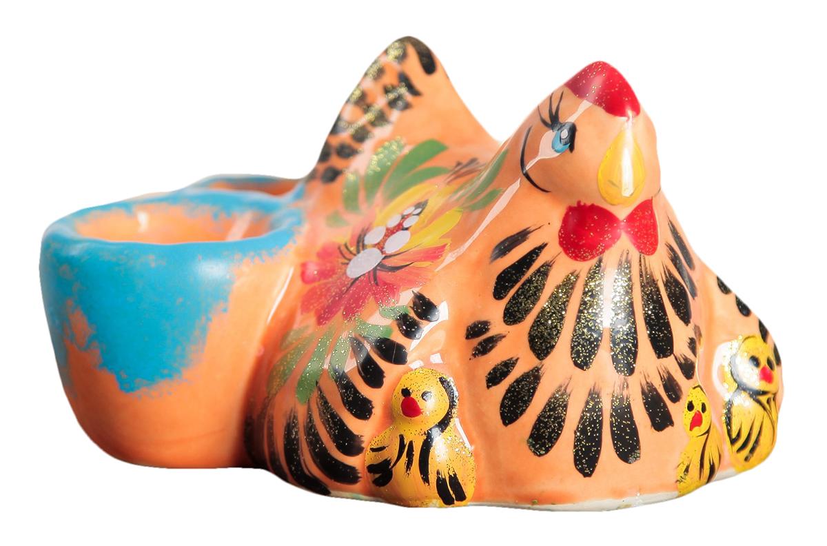 Подставка для яйца Керамика ручной работы Курочка Ряба, 8,5 х 14 см. 2954073 подставка под яйца home queen курочка с узором 2 ячейки