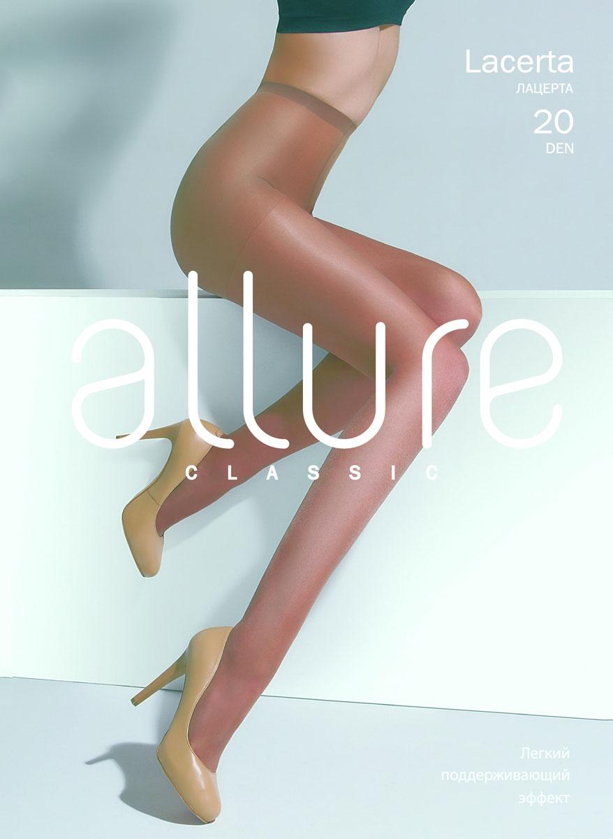 Колготки Allure Lacerta 20, цвет: Caramello (бежевый). Размер 4 колготки allure allure mp002xw134cf