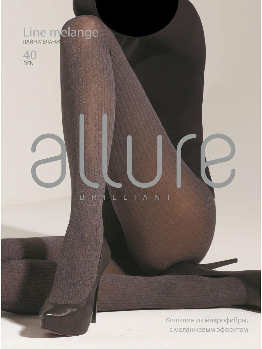 Колготки Allure Line melange 40, цвет: Fumo (серый). Размер 4Line melange 40Колготки из микрофибры с меланжевым эффектом и фантазийным рисунком «вертикальная полоска». Плоские швы и хлопковая ластовица