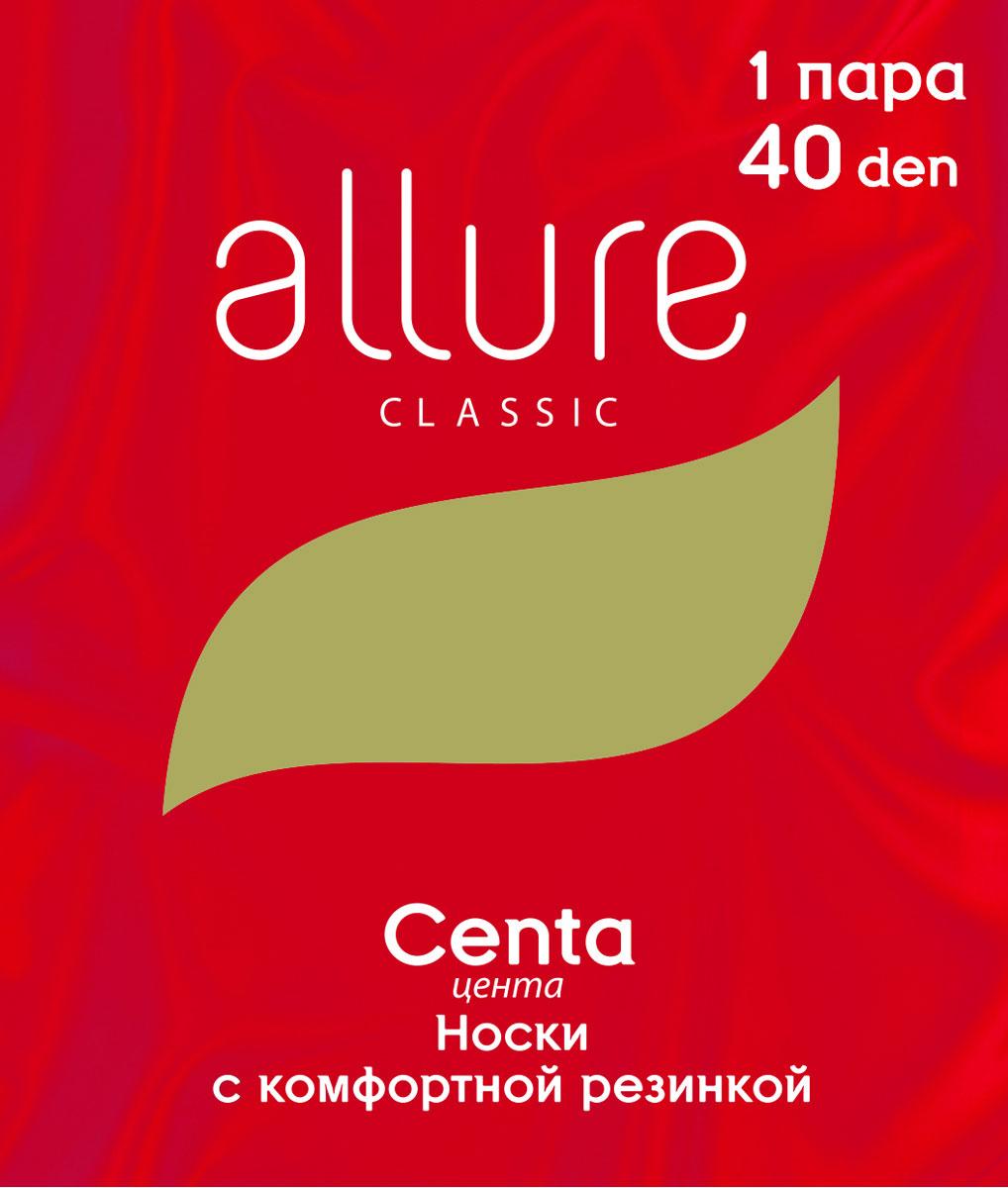 Носки женские Allure Centa 40, цвет:  Nero (черный).  Размер универсальный Allure