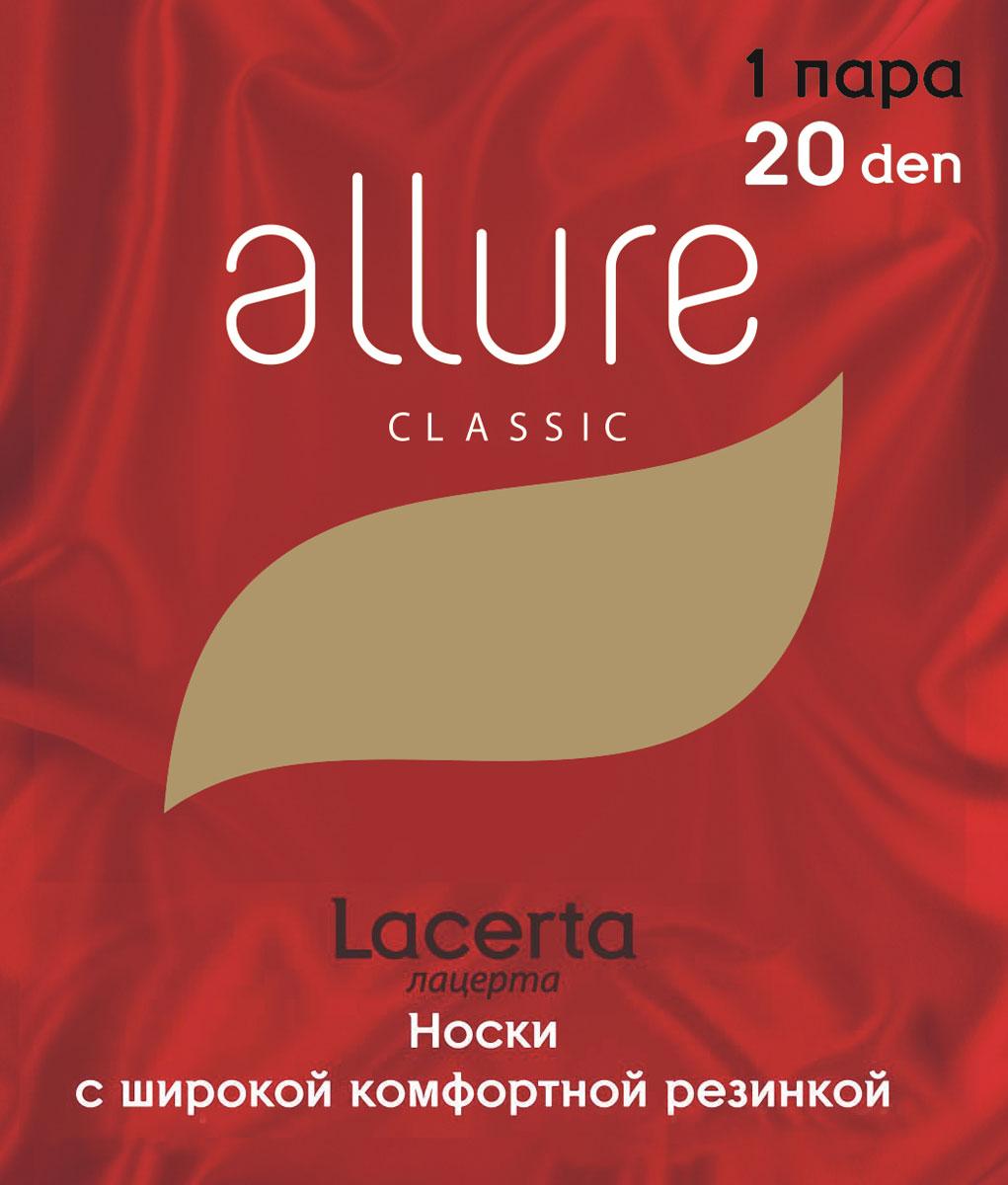 Носки женские Allure Lacerta 20, цвет:  Nero (черный).  Размер универсальный Allure