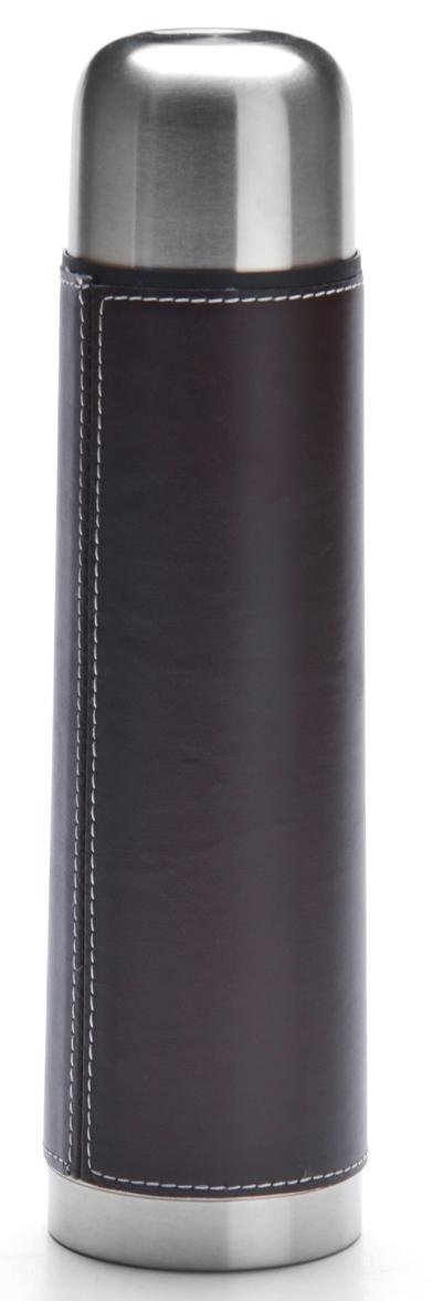 Термос Mayer & Boch, цвет: серебристый, коричневый, 750 мл27604Термос в чехле Mayer & Boch выполнен из качественной нержавеющей стали, которая не вступает в реакцию с содержимым термоса и не изменяет вкусовых качеств напитка. Двойная стенка из нержавеющей стали сохраняет температуру на срок до 6 часов. Вакуумный закручивающийся клапан предохраняет от проливаний. Данная модель термоса прочная, долговечная и в тоже время легкая. Стильный металлический термос понравится абсолютно всем и впишется в любой интерьер кухни. Легко и просто моется.