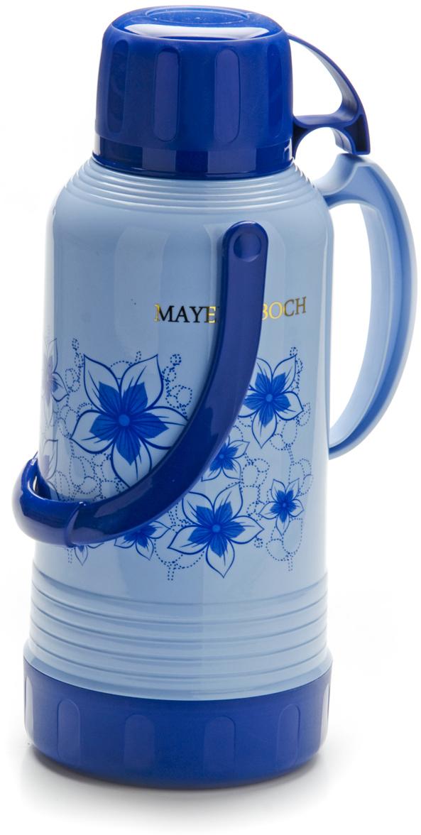 Термос Mayer & Boch, с чашей, 3,2 л. 23706, цвет: голубой, синий, 3,2 л. 2370623706Термос Mayer & Boch пригодится в любой ситуации: будь-то экстремальный поход, пикник, поездка, или вы просто хотите взять с собой в офис. Корпус термоса, выполненный из цветного пищевого пластика, декорирован цветочным узором. На крышке для удобства переноски предусмотрена ручка и ремень. Традиционный термос со стеклянной колбой в пластиковом корпусе является одним из востребованных в России. Его температурная характеристика ни в чем не уступает термосам со стальными колбами, но благодаря свойствам стекла, этот термос может быть использован для заваривания напитков с устойчивыми ароматами. В термосе предусмотрено специальное горлышко для удобства выливания напитка, это особенно важно при объеме от 1 л, и удобная ручка. Завинчивающаяся герметичная крышка предохранит от проливаний, а кнопка-дозатор позволит каждый раз не открывать крышку. Температура сохраняется до 24 часов. Этот термос станет не только надежным другом, но и отличным украшением вашей кухни.Корпус: алюминий, пластик.Колба: стекло.Съемная чаша.