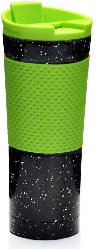 Термокружка Mayer & Boch, цвет: черный, зеленый, 470 мл. 2749127491Термокружка Mayer & Boch изготовлена из нержавеющей стали, не содержащей токсичных веществ. Двойные стенки дольше сохраняют напиток горячим и не обжигают руки. Надежная крышка с защитой от проливания обеспечит дополнительную безопасность. Крышка оснащена клапаном для питья. Основание имеет силиконовую вставку для предотвращения скольжения по поверхности. Оптимальный объем термокружки позволит взять с собой большую порцию горячего кофе или чая. Идеально подходит как для горячих, так и для холодных напитков. Такая кружка может быть использована во время отдыха, на работе, в путешествии, во время поездок в автомобиле. Корпус: нержавеющая сталь, термопластик. Внутренний резервуар: нержавеющая сталь.Крышка: полипропилен.