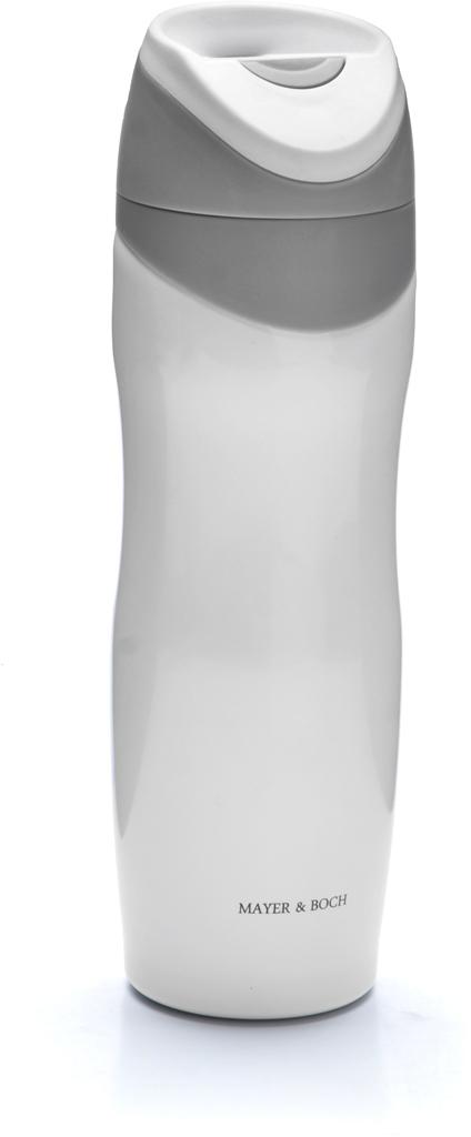 Термос-кружка Mayer & Boch, цвет: белый, серый, 450 мл. 27494