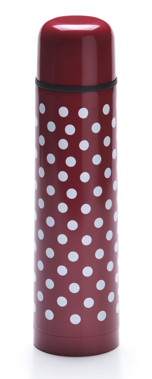 Термос Mayer & Boch, цвет: красный, белый, 500 мл. 2760127601-1Термос Mayer & Boch выполнен из качественной нержавеющей стали, которая не вступает в реакцию с содержимым термоса и не изменяет вкусовых качеств напитка. Двойная стенка из нержавеющей стали сохраняет температуру на срок до 6-ти часов. Вакуумный закручивающийся клапан предохраняет от проливаний. Цветное покрытие обеспечивает защиту от истирания корпуса. Данная модель термоса прочная, долговечная и в тоже время легкая. Стильный металлический термос понравится абсолютно всем и впишется в любой интерьер кухни. Легко и просто моется.Корпус: нержавеющая сталь.Внутренняя колба: нержавеющая сталь.