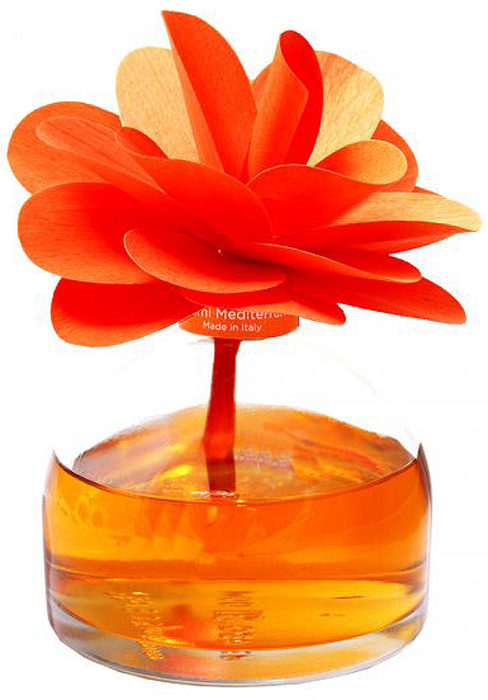 Диффузор ароматический Muha Тосканский цитрус, с цветком, 200 мл диффузор ароматический muha магнолия и фрукты с цветком 200 мл