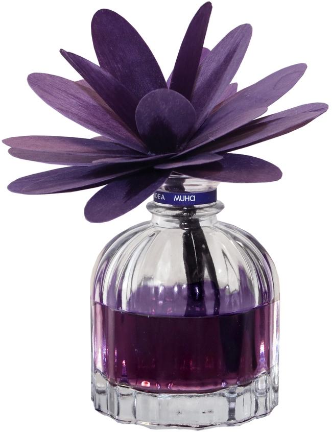 Диффузор ароматический Muha Орхидея и драгоценное дерево, с цветком и наполнителем, 60 мл704-PS-02Ароматический диффузор с цветком Орхидея и драгоценное дерево - это цветочный аромат с доминантами черной и розовой орхидей, вместе с грейпфрутом и мускусом, которые усиливают и подчеркивают аромат.