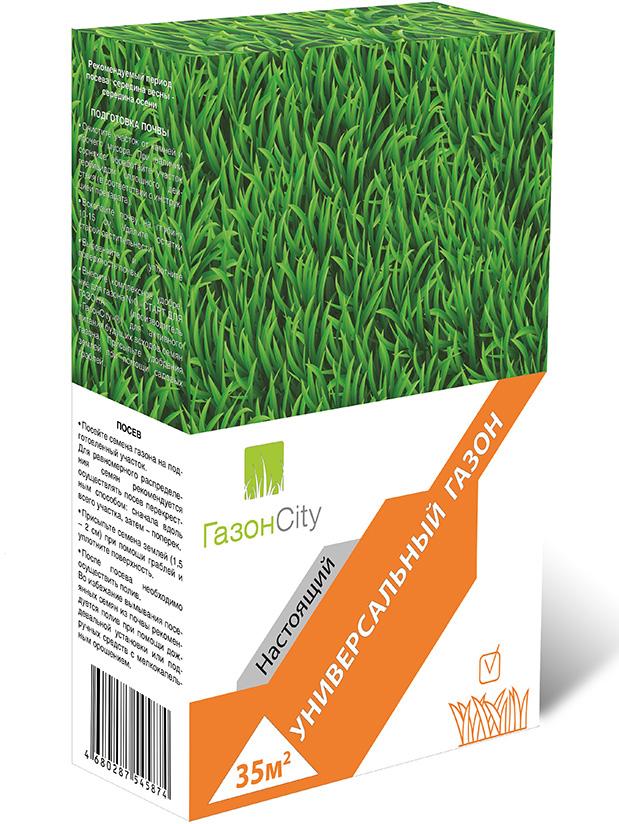 """Настоящий универсальный газон """"ГазонCity"""" – травосмесь для создания красивого и густого газона на участках с различными условиями произрастания. Состав смеси трав: Райграс многолетний - 50%. Овсяница красная - 25%. Овсяница красная измененная - 15%. Мятлик луговой - 10%."""
