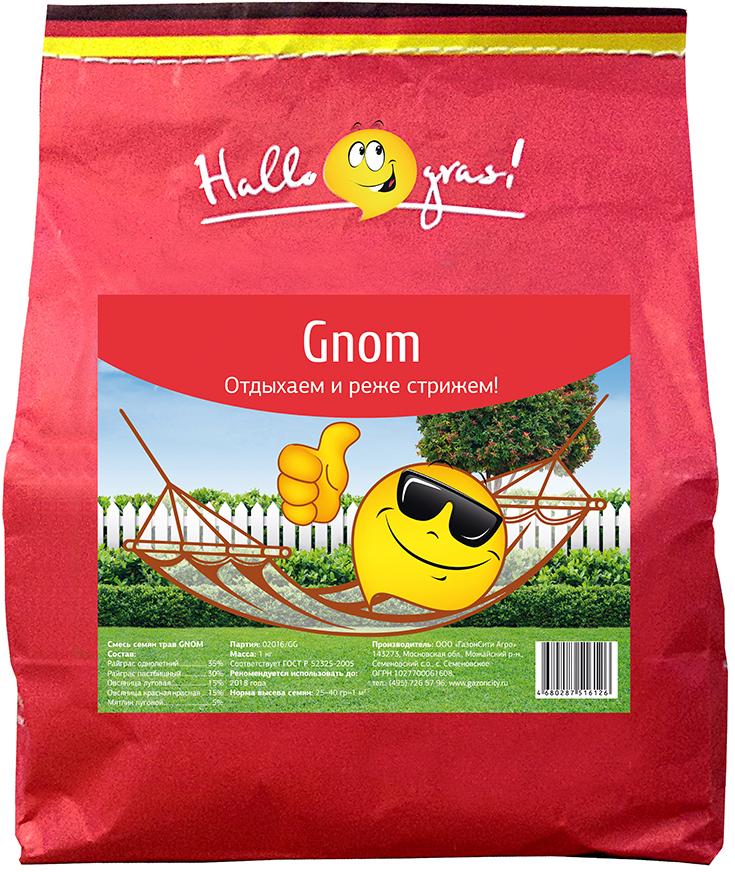 Газон Hallo Gras Gnom Gras, 1 кг206053Газон Gnom Gras - травосмесь для создания относительно медленно растущего газона, что позволяет сократить частоту стрижек. Состав смеси трав: Овсяница красная красная: 15 %.Райграс однолетний: 35 %.Мятлик луговой: 5 %.Овсяница луговая: 15 %.Райграс пастбищный: 30 %.