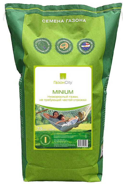 Minium – смесь газонных трав, предназначенная для создания декоративных газонов, не требующих особого ухода. Отличительной особенностью данной смеси являются медленно растущие сорта низкорослых трав, не требующие частой стрижки.